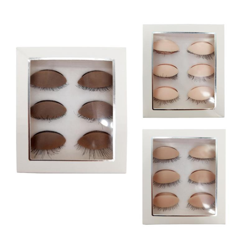 Párpados de reemplazo de la cabeza de maniquí de silicona removibles para la práctica Extensiones de pestañas falsas Maquillaje Modelo Masaje Entrenamiento Cabezales
