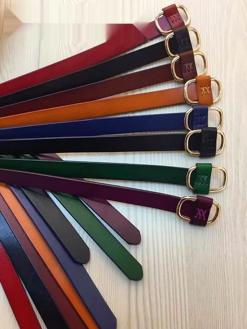 AM34M primeiras mulheres do couro Carteira pinbuckle cinto das mulheres 175 # 2,0 de couro largo Guangzhou Primeira camada de couro carteira de couro camada pinbuckle 1