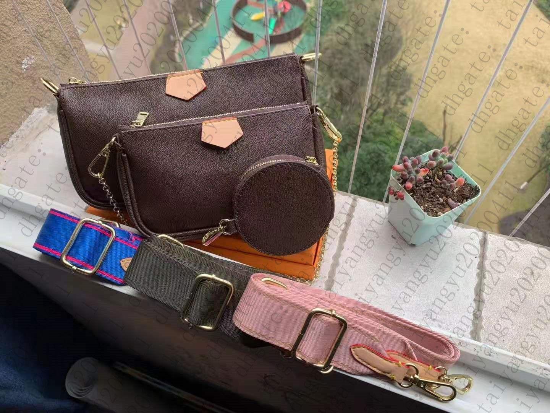 Establecer bolsos de asas 3 bolsas de mujer Multi Bag Dama Bolsos de cuero Accesorios Bolso Pochette Purse Crossbody VKUPF
