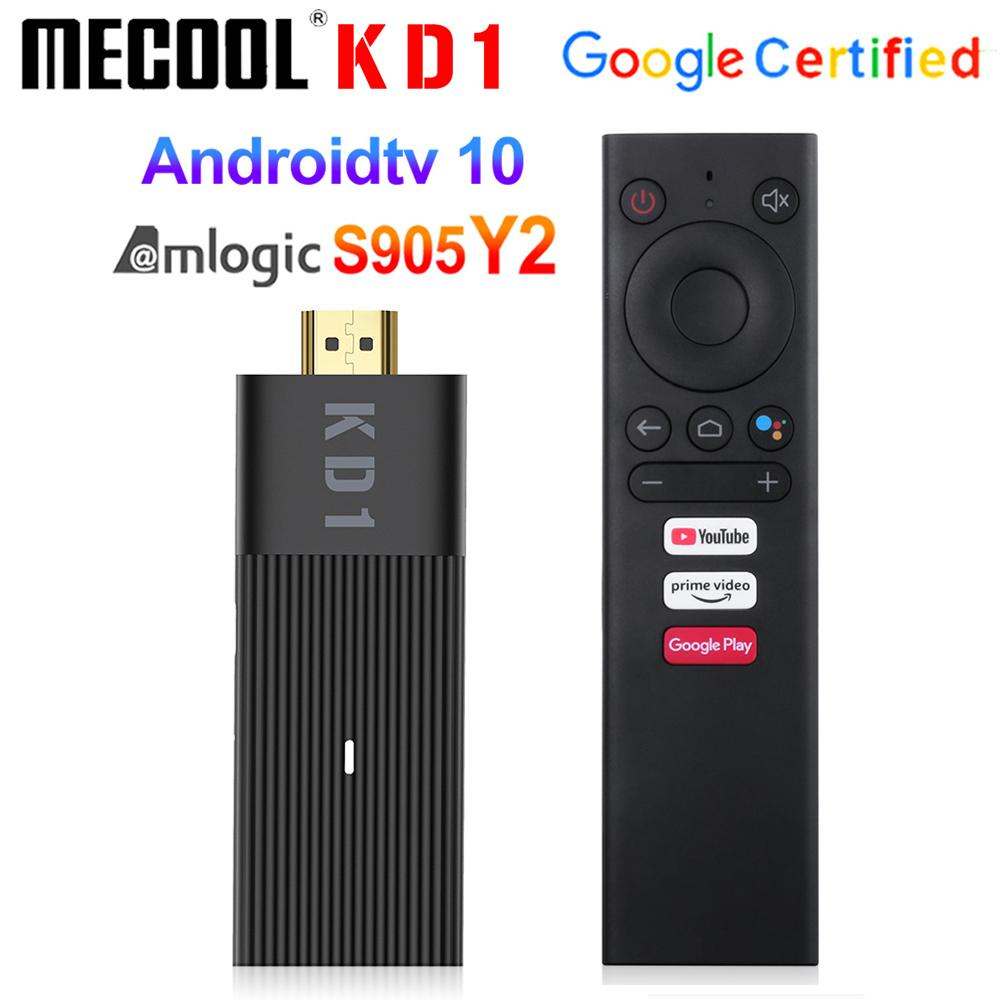 Mecool KD1 TV Stick Amlogic S905Y2 TV Box Android 10 2GB 16GB Support Google Certified Voice 1080P 4K 2.4G&5G Wifi BT TV Dongle