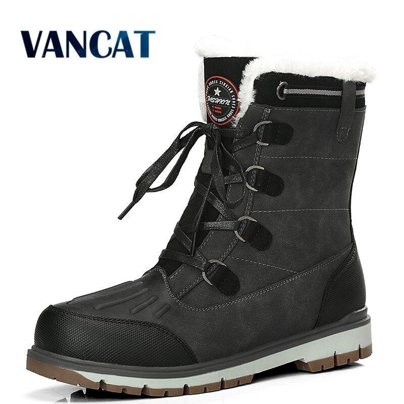 Nuova qualità impermeabile neve super caldo peluche da uomo in pelliccia invernale caviglia comodo stivali da moto taglia 38-47 201204