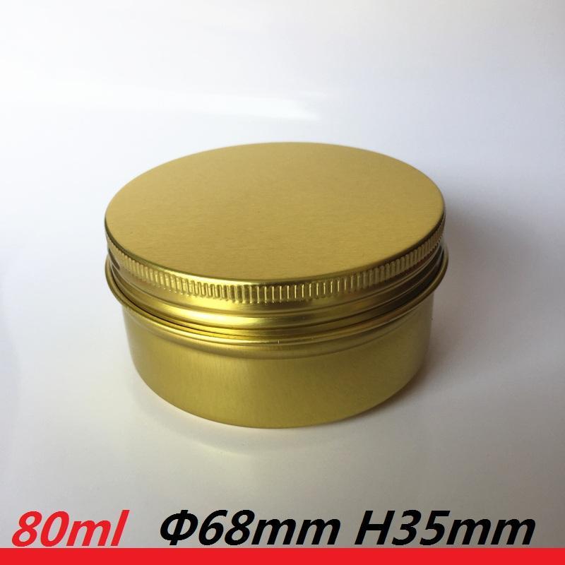 80ML القصدير يمكن شمعة الحاويات 80G والذهب الخالي معدنية علب الألومنيوم الأصفر أصحاب جرة معدنية هدية الزفاف