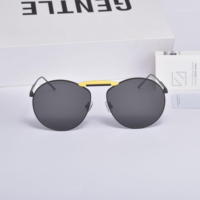Солнцезащитные очки Дизайнер Нежное Охранное сотрудничество Пилотные Очки Классические Металлические Рамы UV400 Женщины Мужчины с Case1