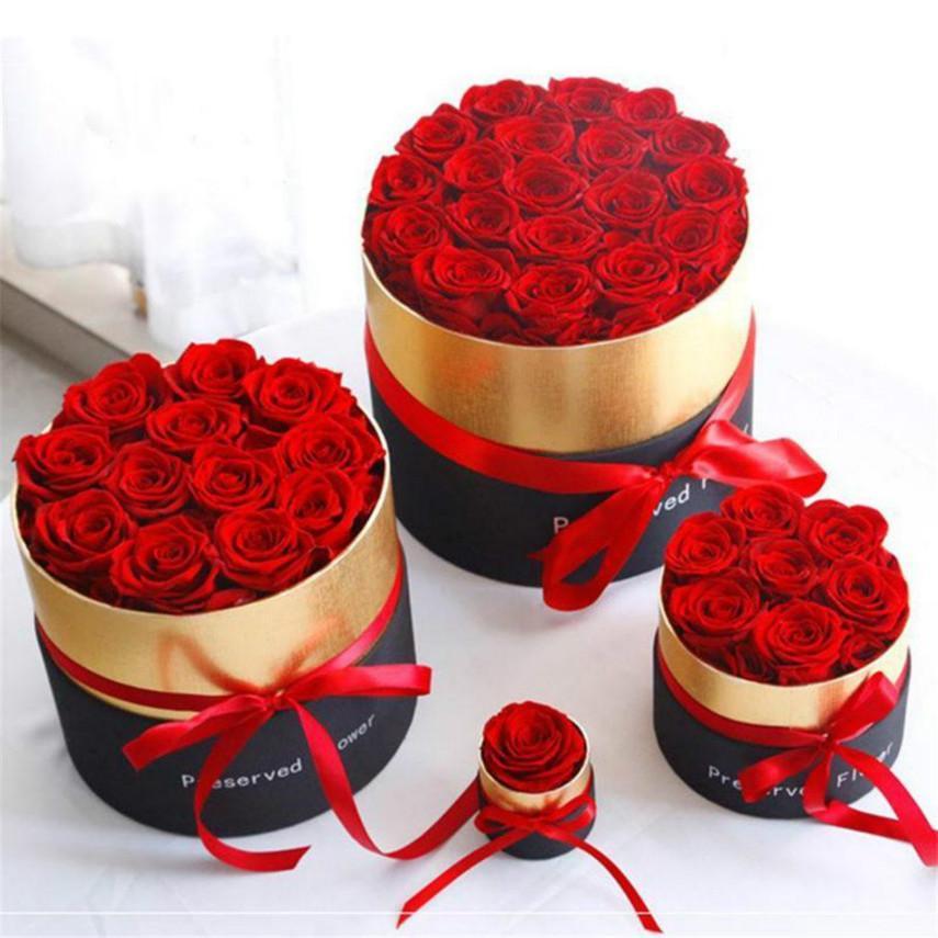 Горячая 2021 вечная роза в коробке консервировала настоящие розовые цветы с коробкой набор романтических валентинок подарки лучший день матери