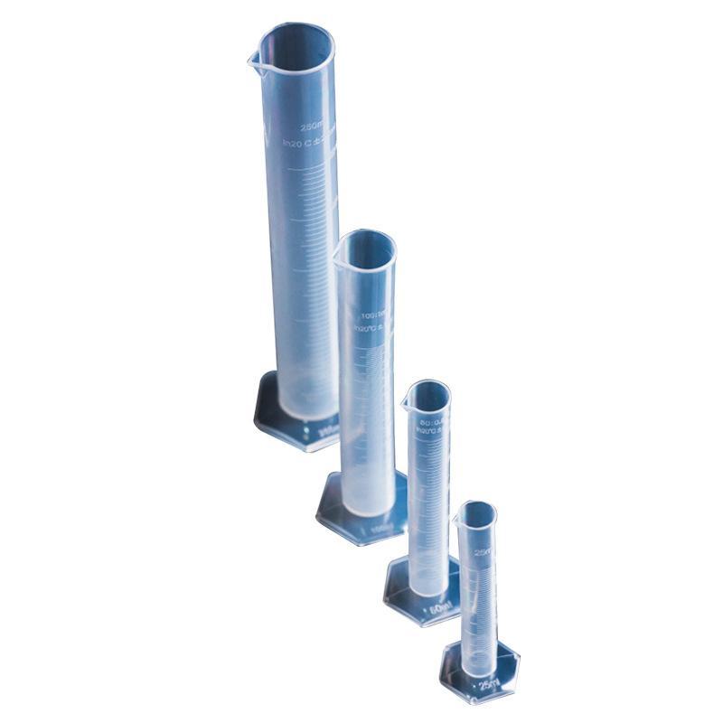 플라스틱 측정 실린더 실린더 세트 10 / 25 / 50 / 100ml 측정 컵 화학 실험실 도구 227 G2
