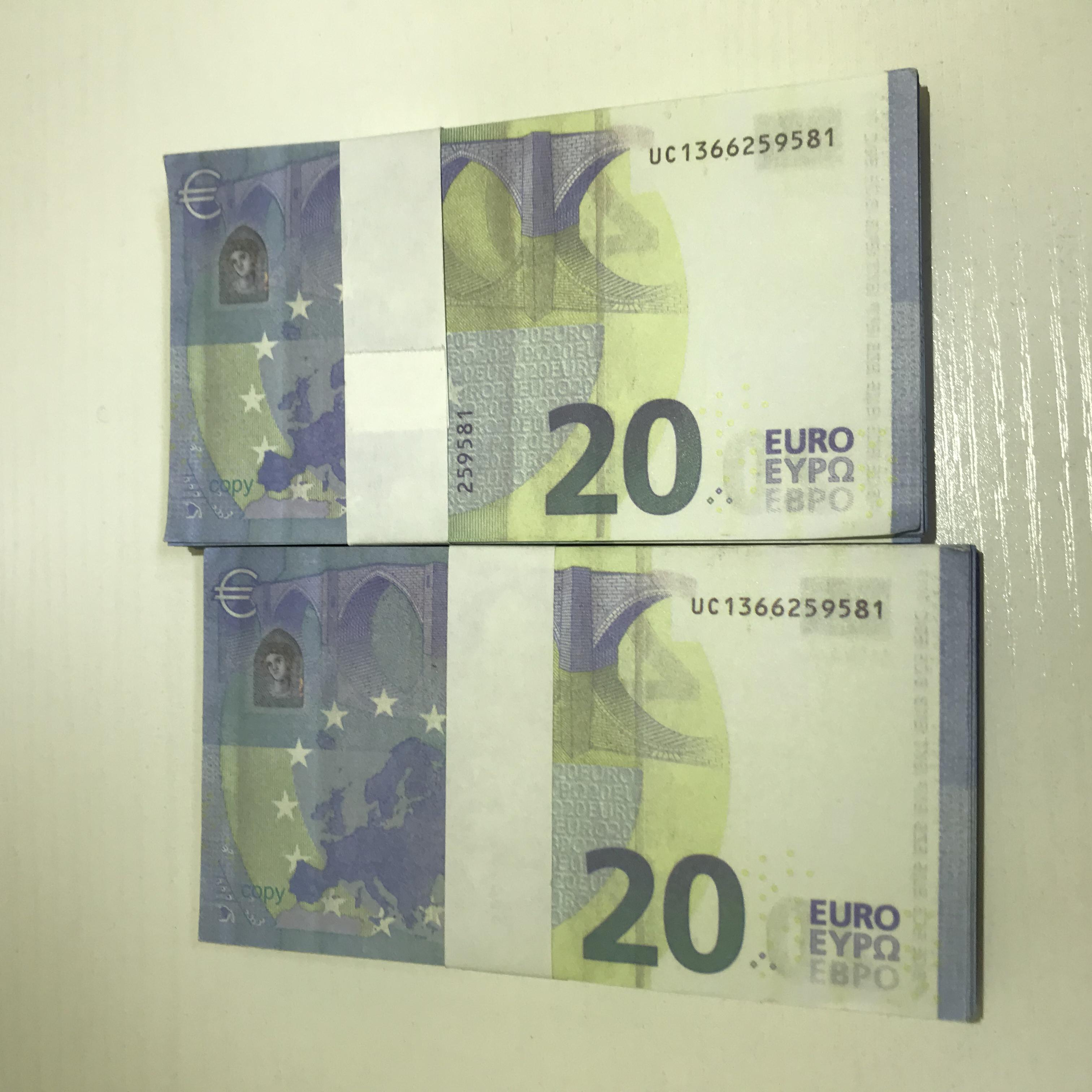 Euro Money Requisiten Filmdollar TV Pfund Billet Gefälschte Requisiten Währung Le20-06 Faux Shooting Bar und Stütze ObtNUH Boavk