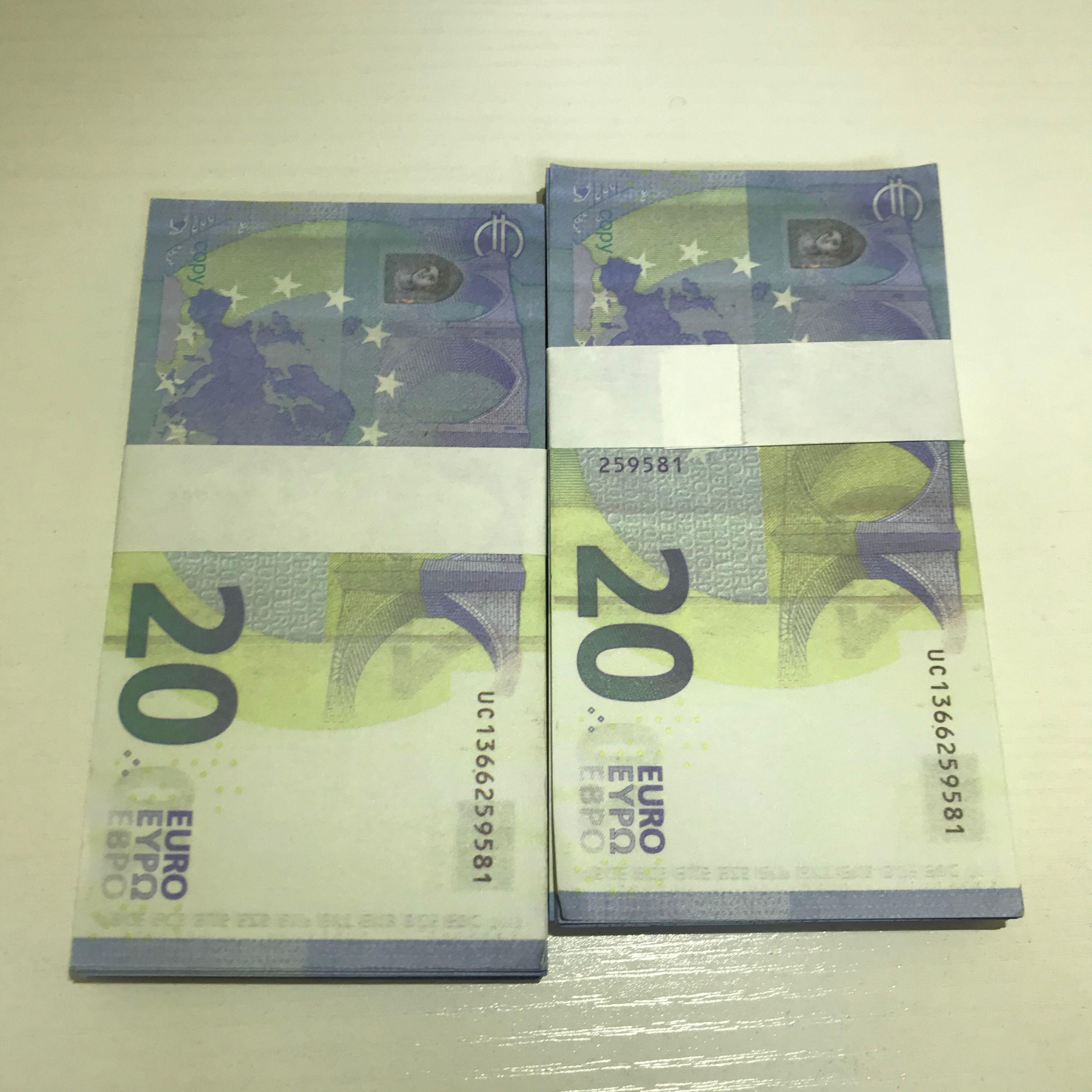 Euro libra falsificación de apoyo accesorios de punta de película obvuch moneda Faux Billet Le20-06 y dinero Dollar Props TV Bar Pocif