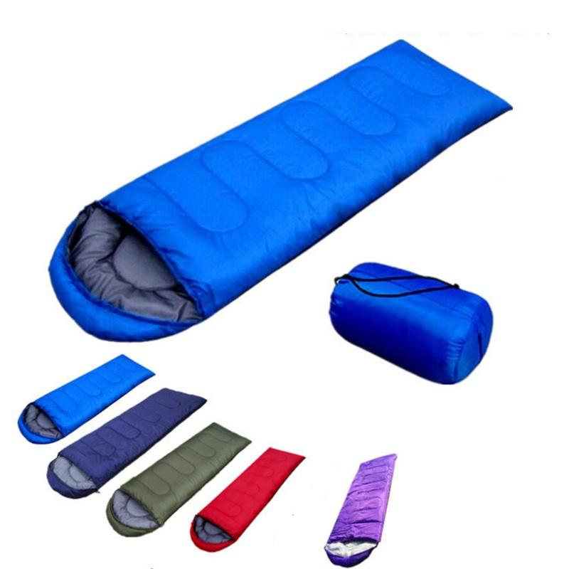 Envelope Outdoor Camping Adult Sleeping Bag Portable Ultra Light Travel Hiking Sleeping Bag With Cap DLH439