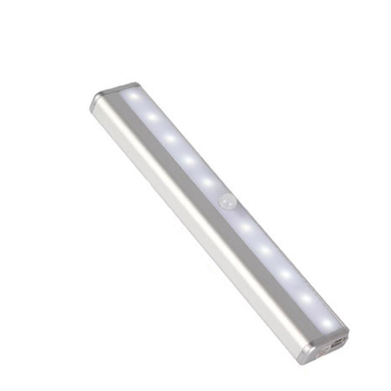 Светодиодный проходчатый шкаф водоустойчивый датчик движения высокая яркость лестницы крытый USB перезаряжаемый портативный шкаф