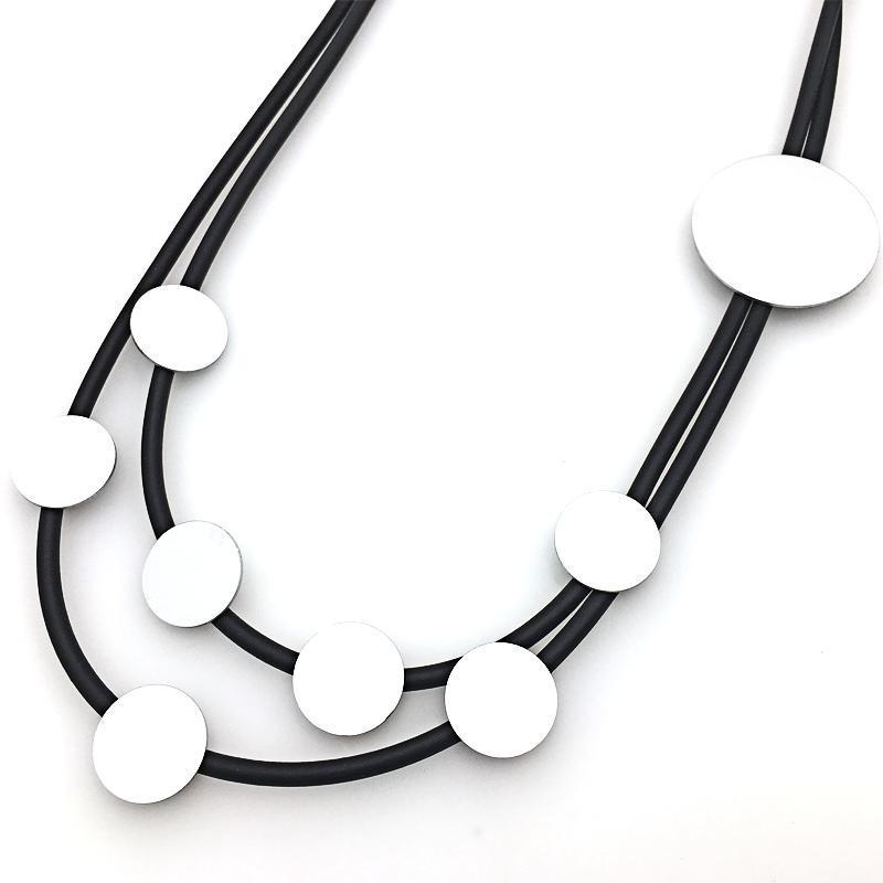 Новый Super Long Diy ожерелье женщин ювелирные изделия Коренастый-воротник Punk кубинский Снаряженная Hip-Hop Минималистский ожерелья круглый алюминиевый Brands Kolye