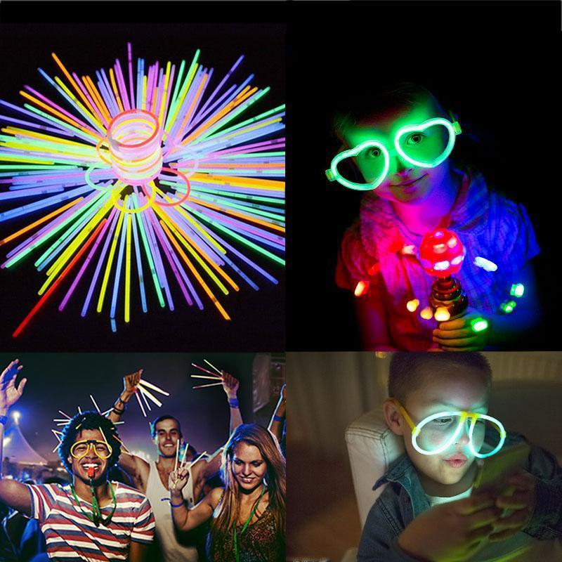 Fluorescence Lumière Bâtons DIY Bracelets Colliers Concert Néon bâton pour le mariage anniversaire Fournitures fêtes de Noël événement