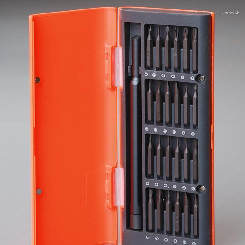 Destornillador magnético naranja Shell 25 en 1 Destornillador de precisión Conjunto de herramientas de placas fosfato para teclado de máquina1