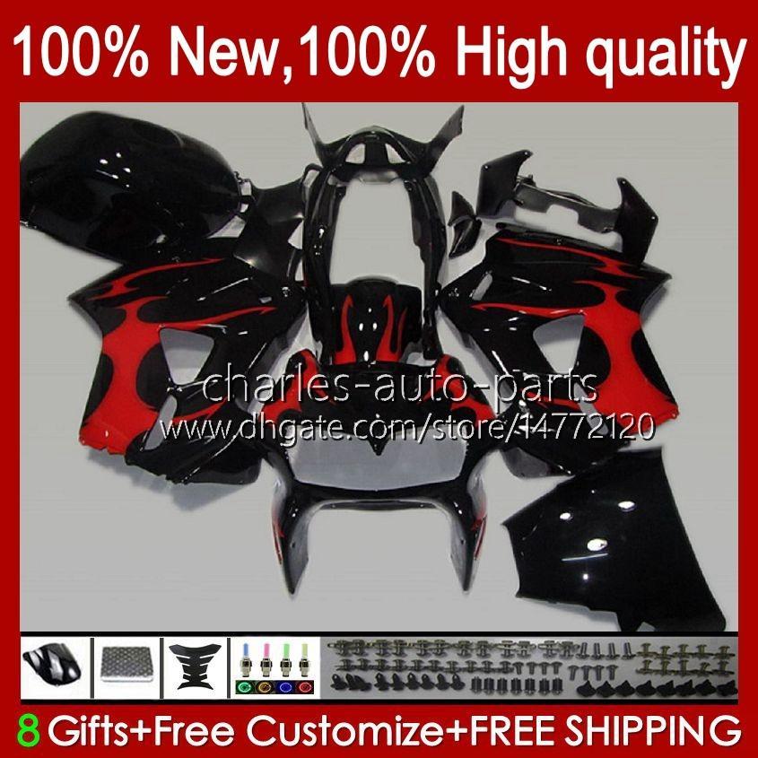 Комплект для тела для Honda Interceptor VFR800RR VFR 800RR 800 RR 99HC.64 VFR800 98 99 00 01 VFR800R 1998 1999 2000 2001 Full Flatings Red Flame New