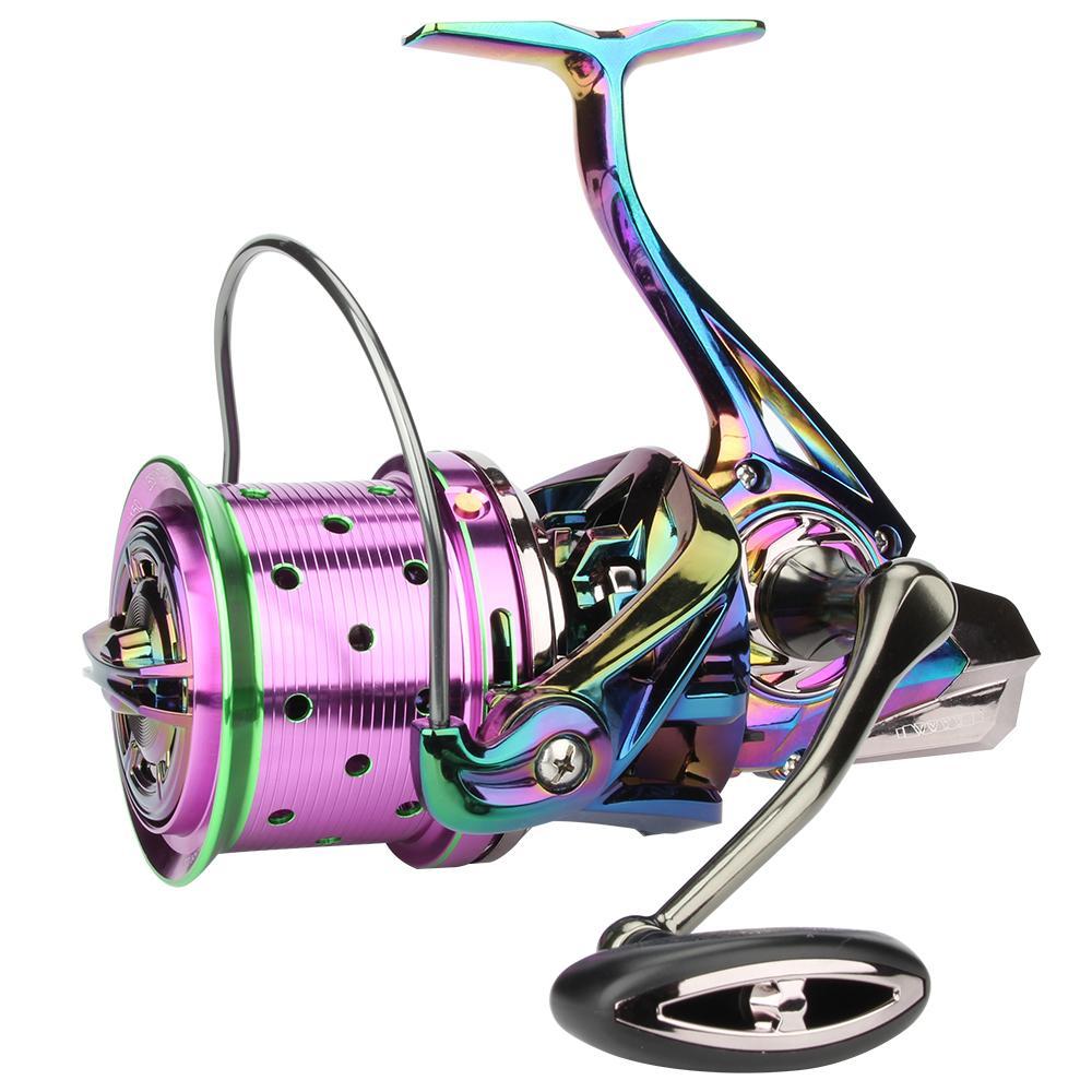 Rosewood 8000/10000/12000 Спиннинговая рыболовная катушка передач 4,7: 1 подшипник 18 + 1 Super Power Big Game Wheels Рыболовные снасти