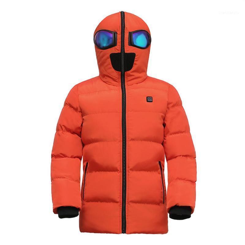3 المناطق ساخنة الأطفال مقنعين سترة ساخنة الشتاء الدافئة USB سترات التدفئة في الهواء الطلق الرياضة الذكية الحرارية warmer1