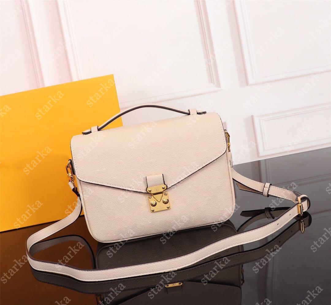 Klassische original hohe qualität luxus designer tasche geldbörse metis handtasche mono empreitung ledertasche damen kette umhängetaschen crossbody taschen