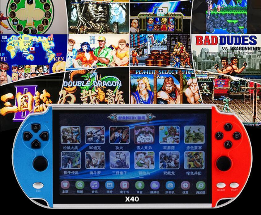 X40 Game Player Max 7Inch Переносной Многофункциональные игрока Супер Классические игры консоли для SFC MD GBA игры Bulit в 16GB хороший подарок