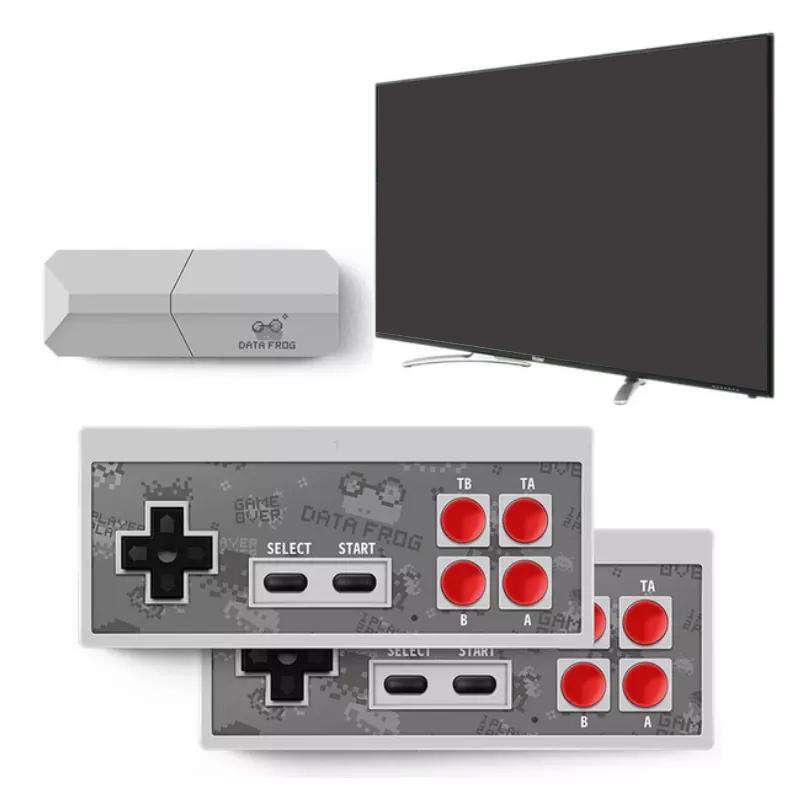 Mini inalámbrico Consola de videojuegos puede almacenar 600 Juegos clásicos retro de juegos de mano consolas de juego portátiles jugadores juego de la caja con doble Gamepad