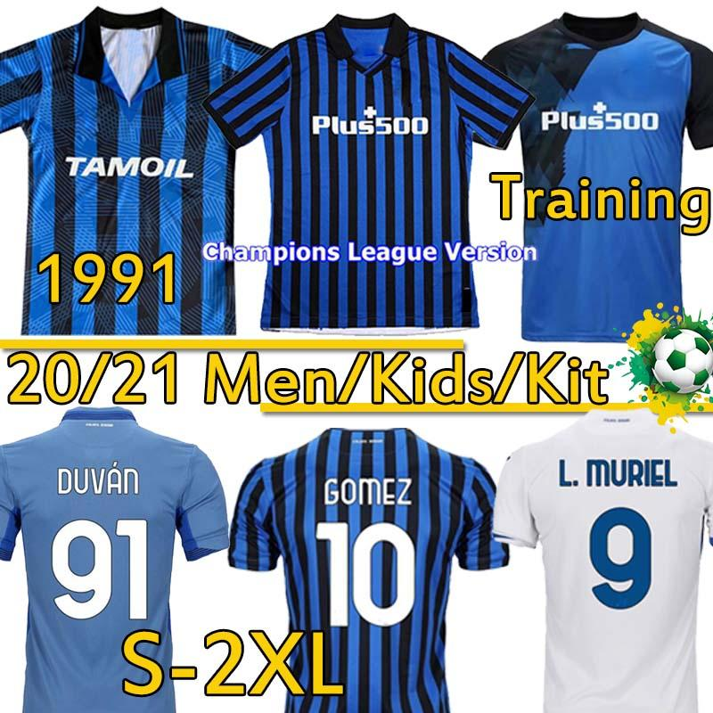 2021 Atalanta FC Soccer Technys 1991 92 Ретро Аталанта футболки футбол Gomez L.muriel Ilicic de Roon Дувань Детский Кит Таиланд Униформа