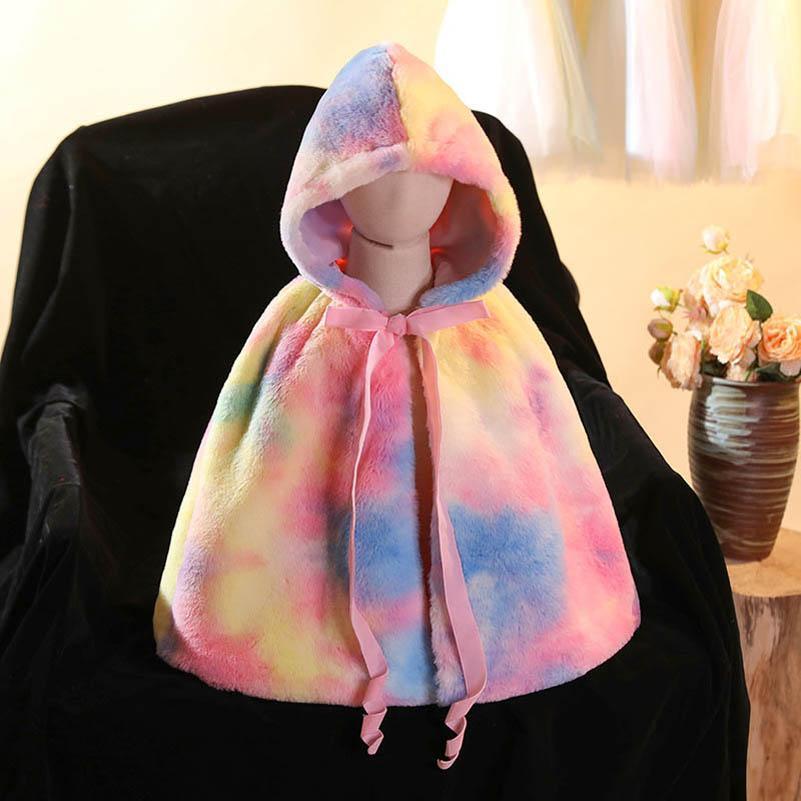 Единорог девочек плащ дети пальто осень зима с капюшоном детские дети плащ детские туалеты девушки одежда детей носить 3 9Y B3940