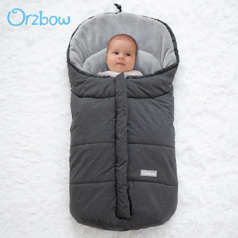 Orzbow Extrait du nourrisson Enveloppe du nouveau-né Sac de couchage pour bébé poussette sleepsacks Footmuff hiver chaud extérieur Baby Cocoon 201006