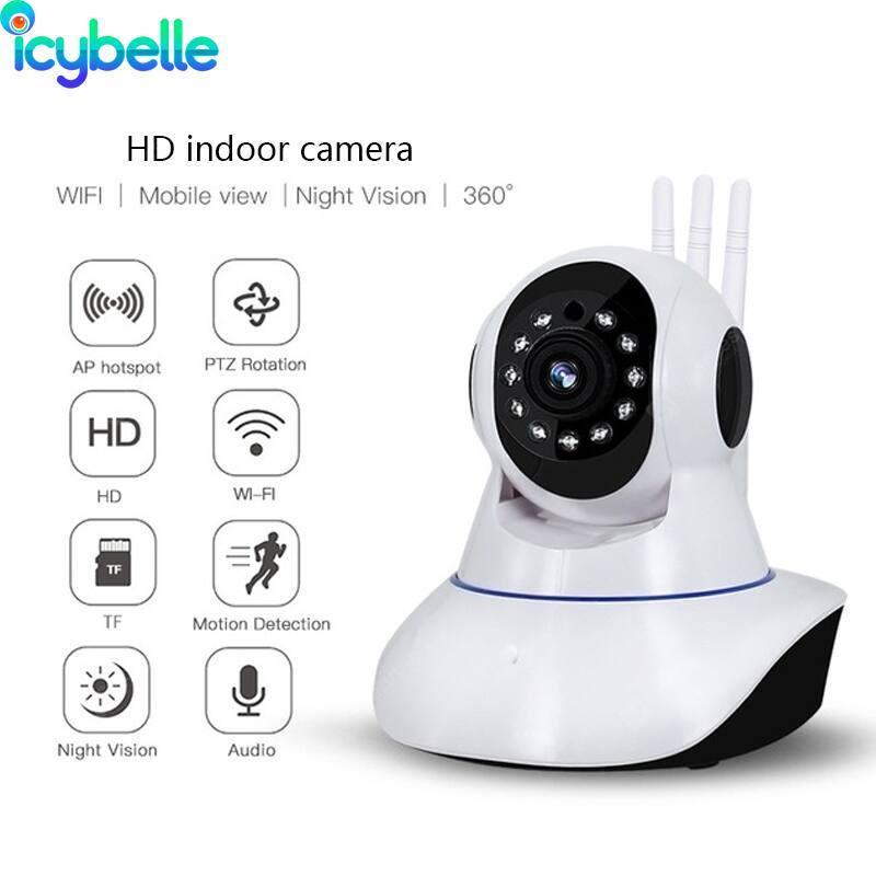 Telecamere Icy CCTV Telecamera Network WiFi IP Wireless Webcam Baby Monitor Auto Tracking 2MP Sicurezza domestica RFVTHF