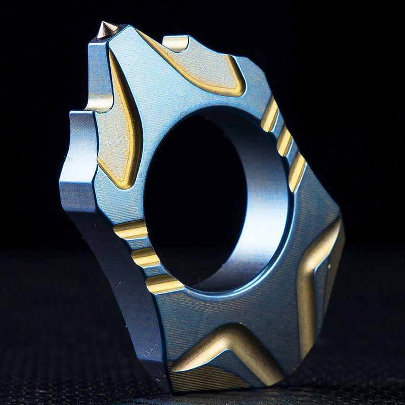 Мода Роскошный Titanium Alloy Вулканический для самообороны Женская обороны Оборудование может носить кольцо для защиты от волков Cat Кольца