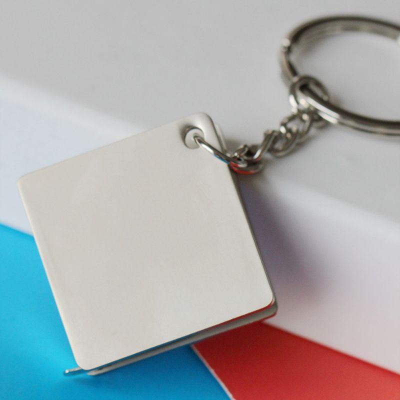 Reel Anahtarlık Hattı Araçları Moda Takı Ölçme Taşınabilir Band Bant Anahtarlık Metal Cetvel Mezro Anahtarlık