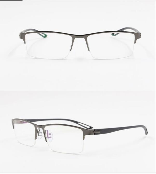 TR90 Titan-Legierung Männer Optische Gläser Halb Randlose Glas Brillen Square Myopie Augenrezept Eyewear1 Frames Koreanische Rahmen TRBAS