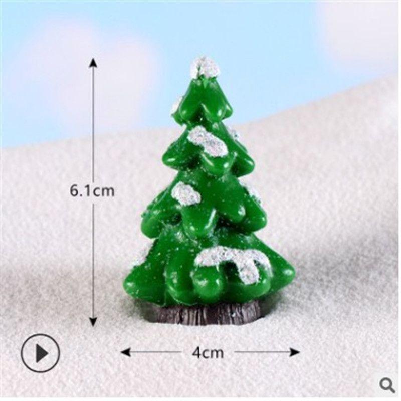 Minyatür Noel ağacı Noel Baba Kardan Adam Teraryumlar Aksesuar Hediye Kutusu Peri Bahçe Figürinleri Bebek Evi Dekor