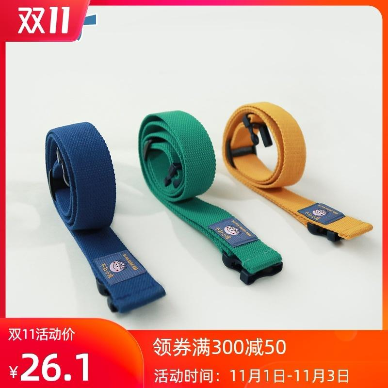 No juegue ocio multicolor de los niños hebilla de cinturón de tela decorativa de Corea, correa de moda simple para hombres y mujeres