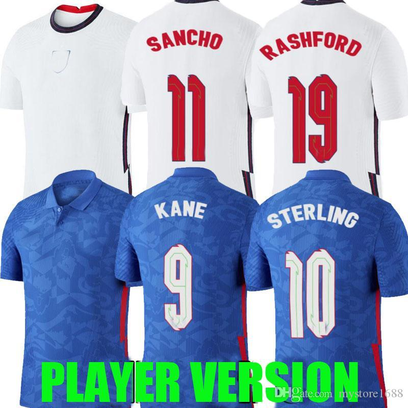 2020 2021 VERSION PLAYER Angleterre maillots de football HOME 20 21 kane STERLING SANCHO Rashford DELE Inglaterra chemisettes de Fútbol équipe nationale