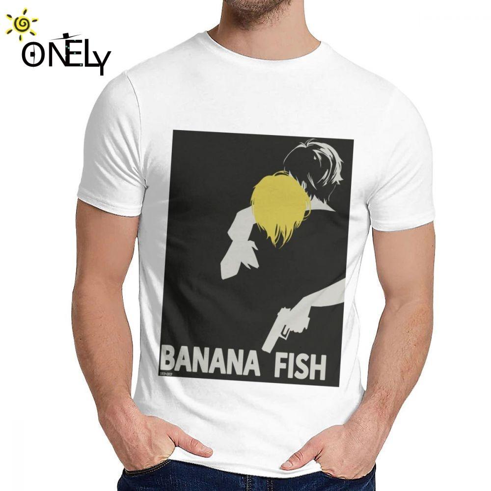 Sport Boy-T-Shirt Banana Fish Anime Comics Weiche Lustige klassischer Rundhalsausschnitt-Hip Hop-T-Shirt
