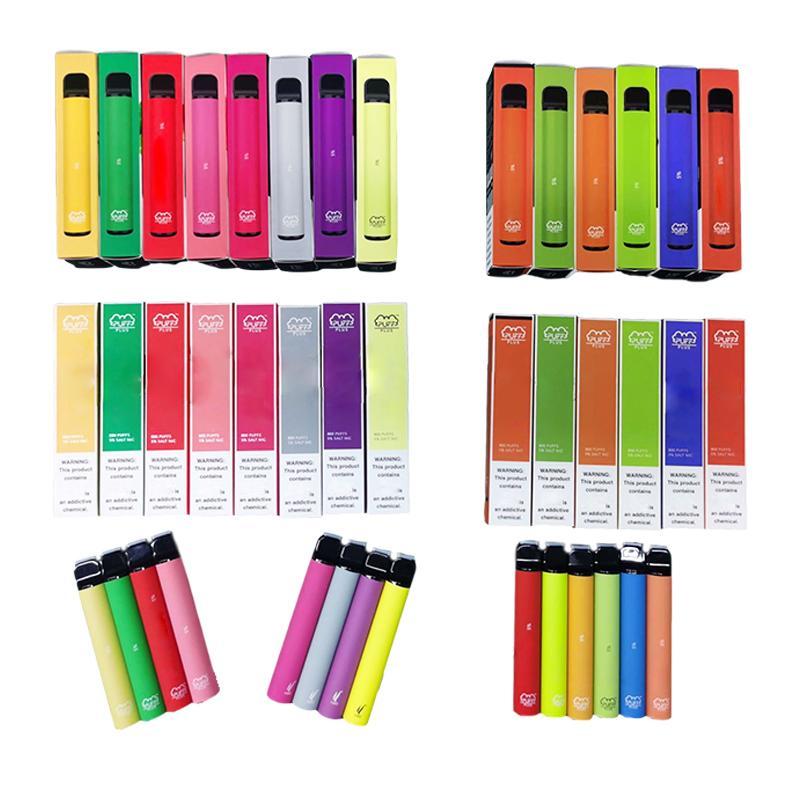 Barra de Puff Bar Plus 84 Cores Dispositivo Descartável 550mAh Bateria 800 Puffs 3.2ml POD Pré-enchido Vapo Vape Vaia Vapor Puff Puff Plus