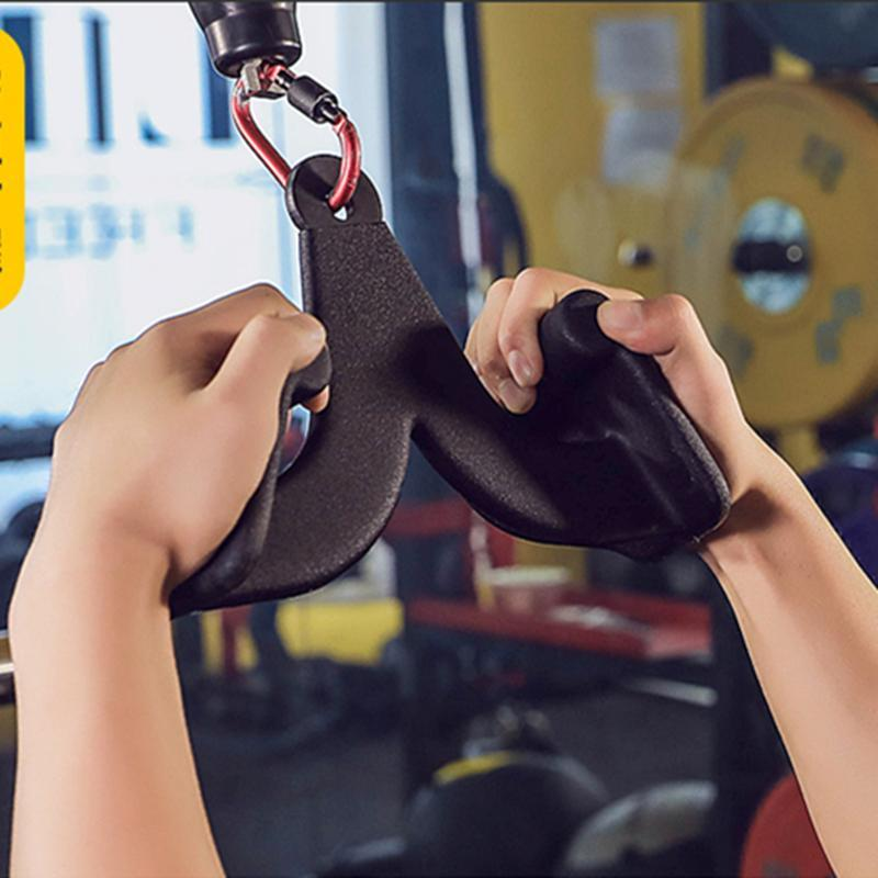 Home Fitnessstudio Training Back Muscle Booting Griff Pully Kabelmaschine Anhänge Rudert T-Bar V-Bar Bizeps Trizeps Blaster Handgriffe