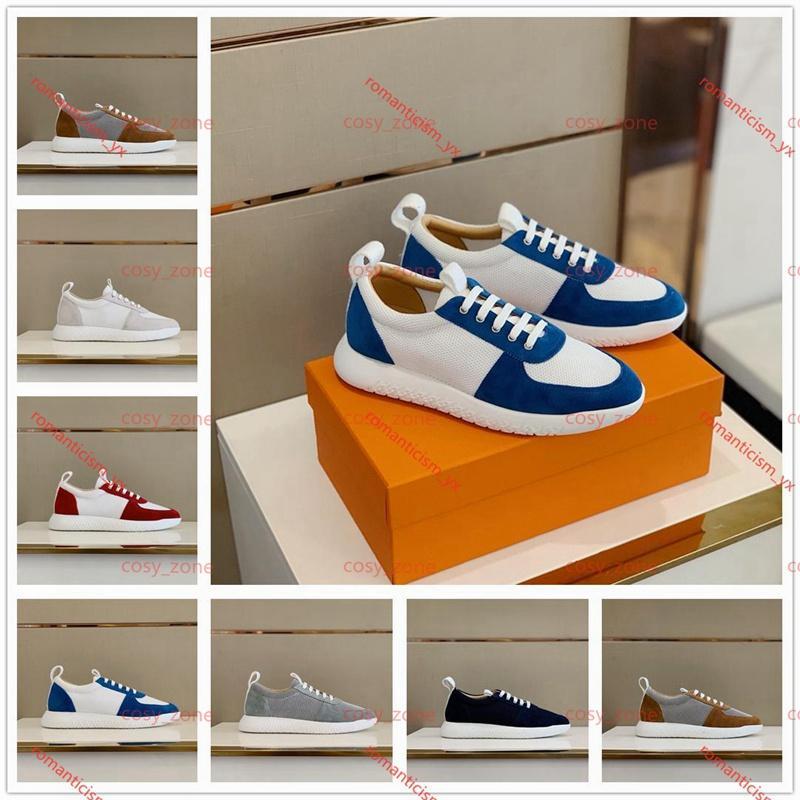 Hermes shoes hombres zapatos de zapatos de zapatillas de deporte para hombres zapatos de entrenador deportivo de moda luxe zapatos casuales zapatos deportivos al aire libre 38-45