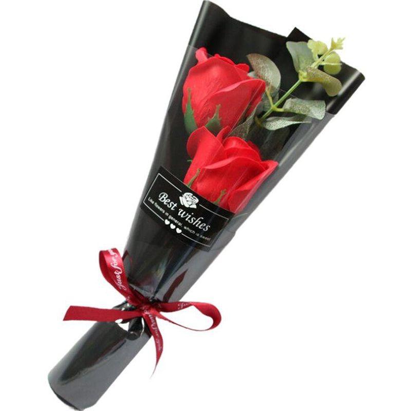 수제 비누 장미 인공 꽃 여자 친구 발렌타인 데이 선물 기념일 가짜 꽃 웨딩 장식