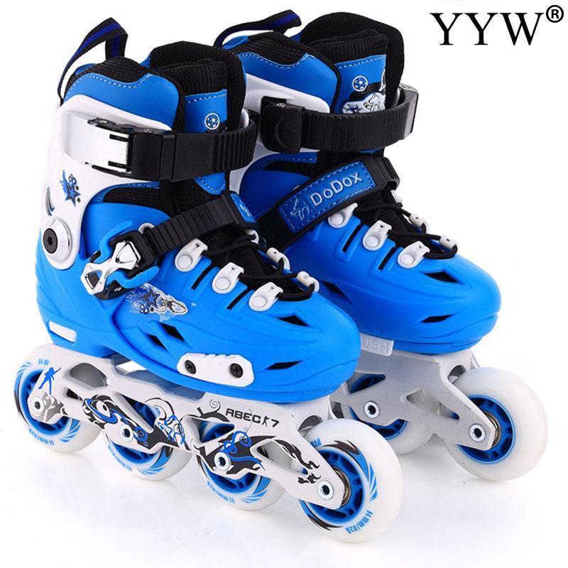 Inline Roller Skates 2021 Marke Kinder Kinder Turnschuhe Schuhe 4 Räder 1 Zeile Gleitschuhlaufen PVC Girls Training Outdoor Süß