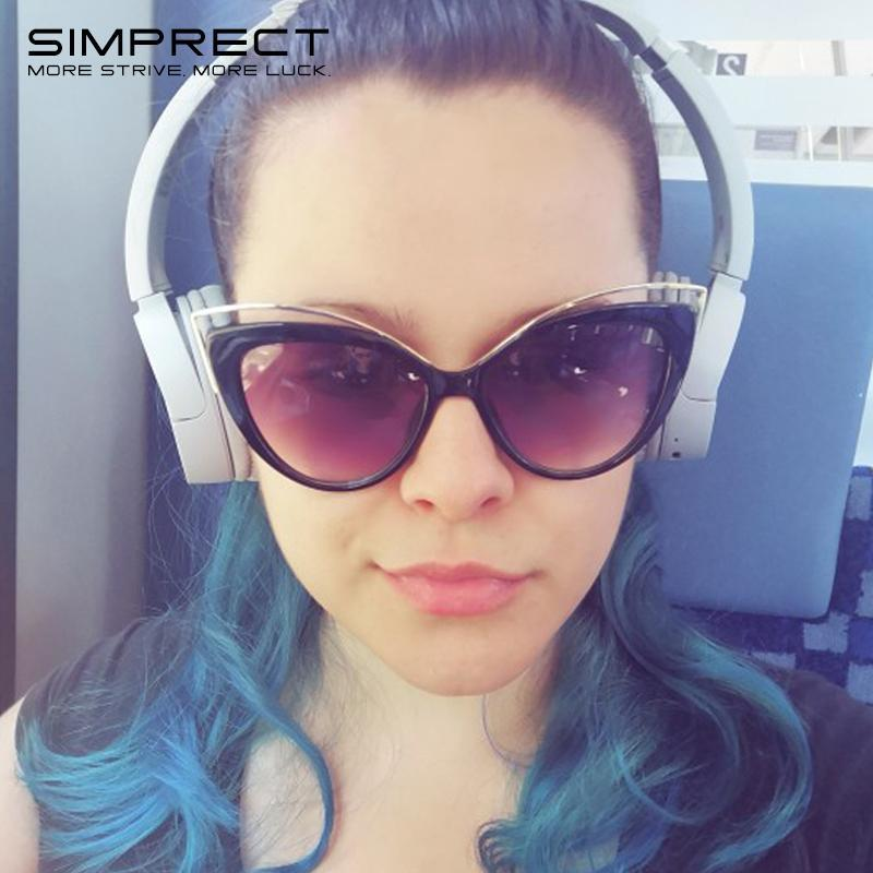 Simplect Cat Eye Occhiali da sole Donna 2021 Retro occhiali da sole Occhiali da sole Tonalità vintage per le donne Occhiali da sole Design Zonnebril Dames