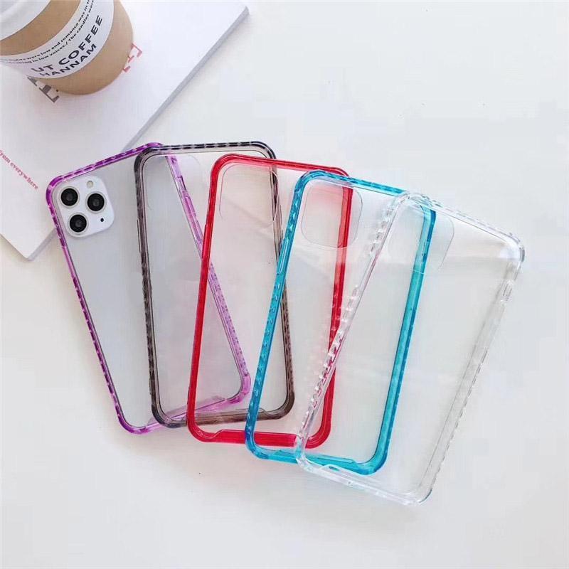 Şeker Renk Geometrik Elmas Telefon Kılıfı Için iphone 11 Pro Max 7 8 Artı X XR XS Max 6 6 S Artı Yumuşak TPU Konut Arka Kapak