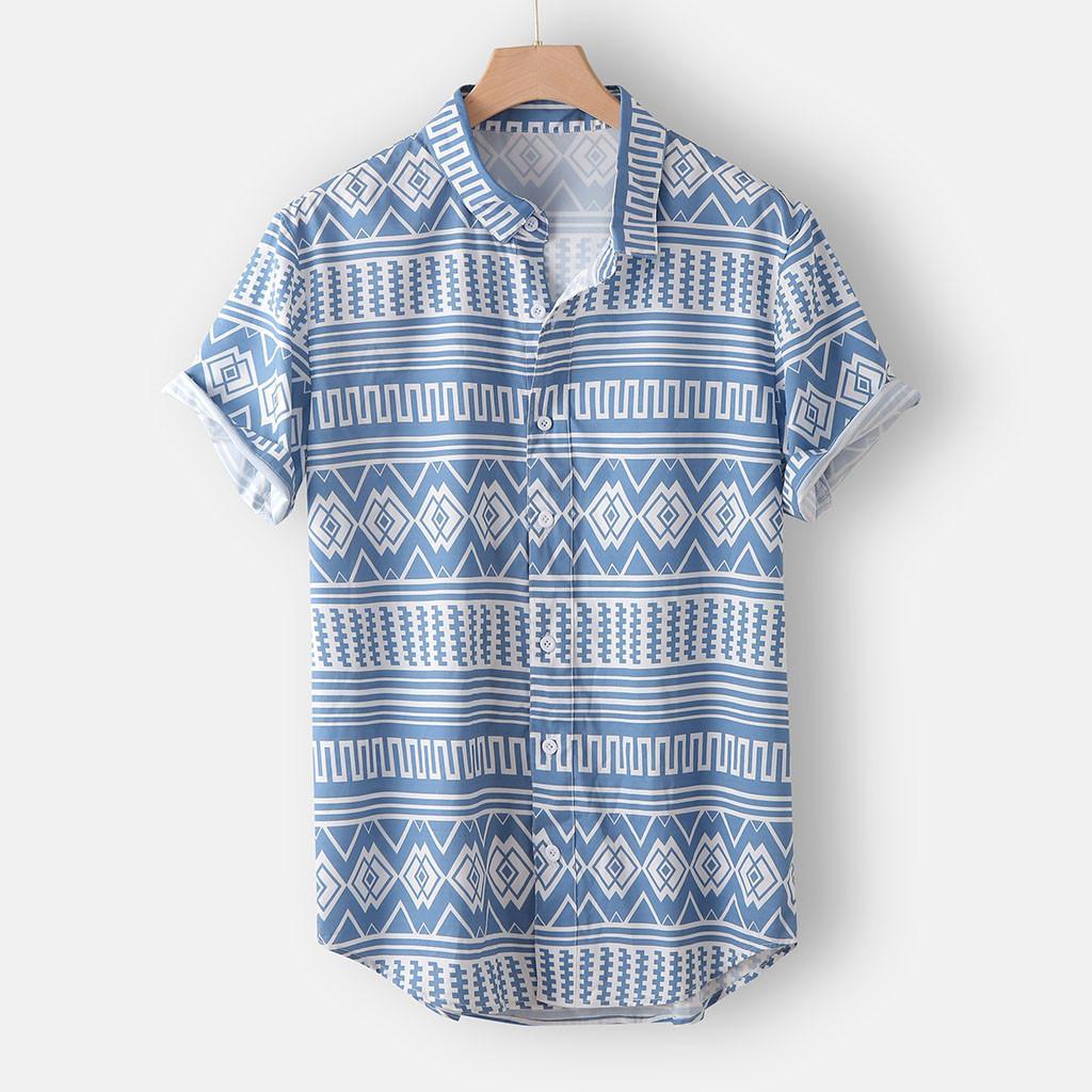 Chemisier à manches courtes de mode à manches courtes de mode classique Homme imprimé Hawaiian Shirt à la mode # G30 Q0104