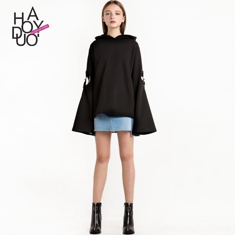 0qhnF mode nouvelle mode pulloverClothes creux de couleur lâche solide chandail à capuchon beaucoup HAODUOYI nouveau HAODUOYI couleur creuses en vrac solides de vêtements