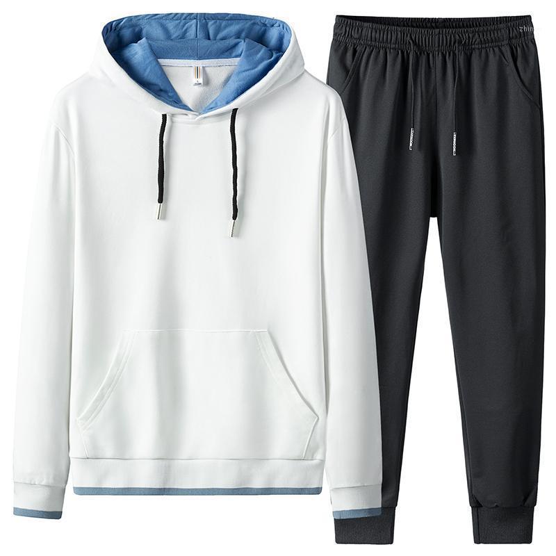 Sportswear Set Homens New Spring Outono Slim Fit Tracksuit Hoodies Masculino Esportes Terno Marido Roupas 2 Peça Sueter + Sweatpants1