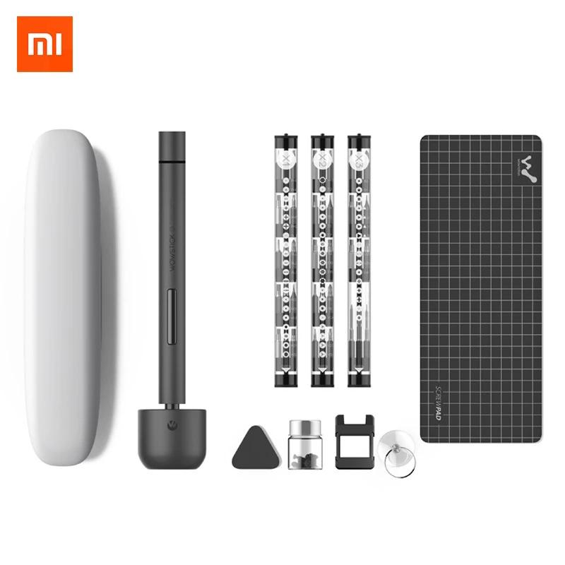 XIAOMI Wowstick 1F Pro Mini Electric Screw driver Rechargeable Cordless Power Screw Driver Kit With LED Light Lithium Battery