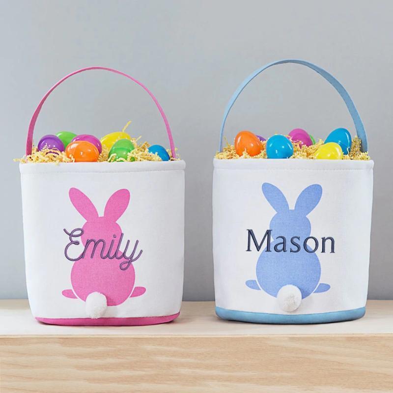 Panier de sac mignon 32 styles Décoration 100pcs / Lot pour Toile Cadeaux de Pâques Party Enfants Candy Bucket Tote CEKXM