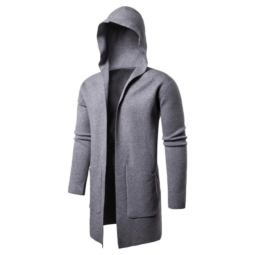 Yeni Süveter erkekler Katı Kazaklar Casual Kapşonlu Triko Sonbahar Kış Sıcak Femme Erkekler Giyim Slim Fit Atlama 201.009
