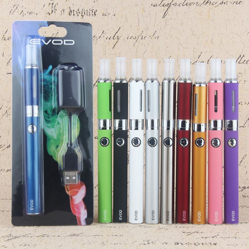 Electronic Cigarette Kit MT3 atomizer 650mAh 900mAh 1100mAh Evod Logo Battery E Cigarettes ecig 10 Colors