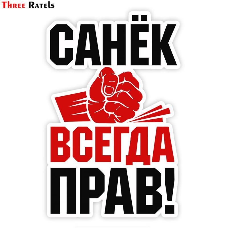 الجملة TZ-1793 # 11X17CM روبرتو سانيا دائما على حق! ملصقات السيارات مضحك ملصقا السيارات الشارات