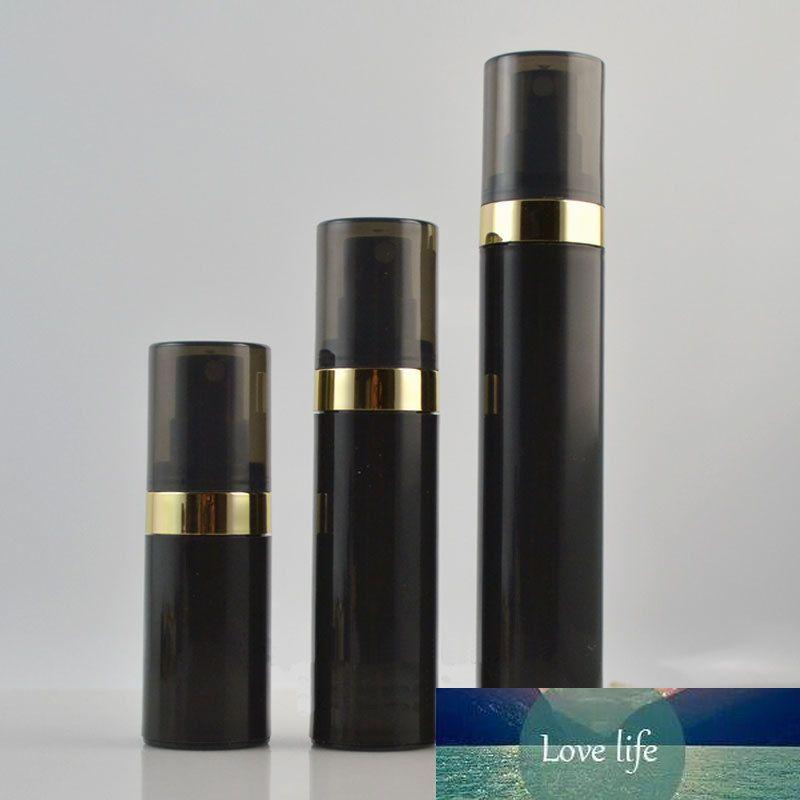 Echantillon cosmétique noir vide Flacon airless pompe parfum Soins de la peau Soins personnels en plastique Airless Lotion Crème Conteneurs Voyage