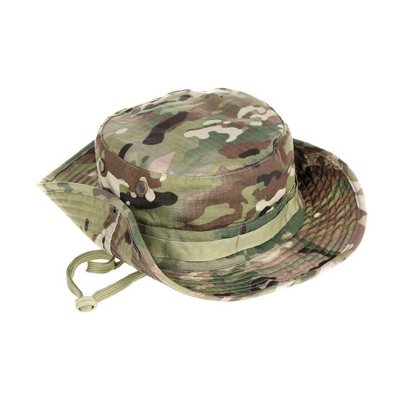 Camuflaje del sombrero del cubo táctico Pescador Caps al aire libre Senderismo Pesca Caza que acampa del sombrero de Sun Protection